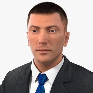 businessman rigged hair 2 3d max