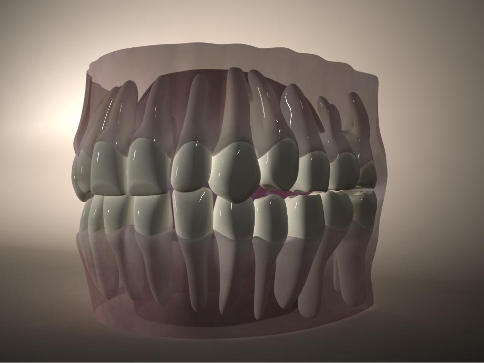 3d model mouth gums tongue