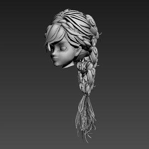 3d hair animation