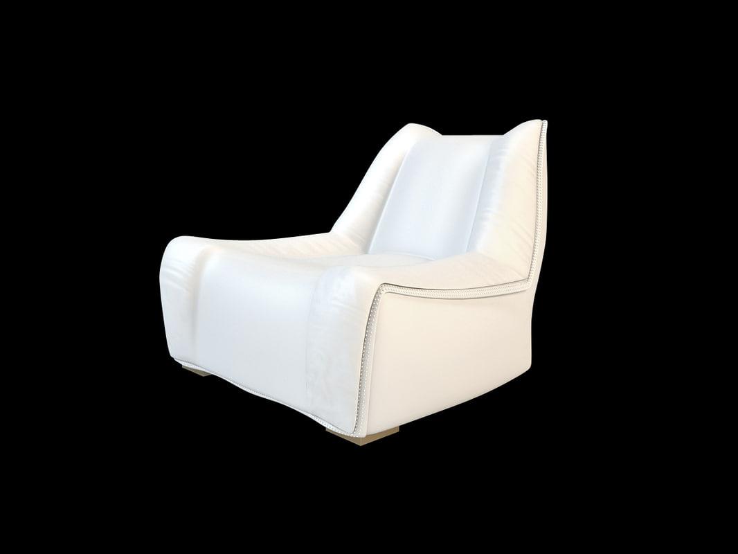 century white chair bamax 3d max