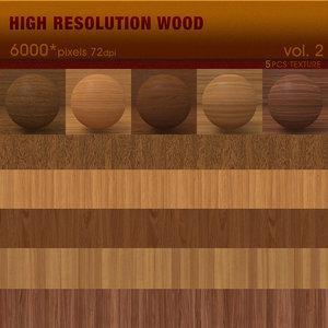 High Resolution Wood Textures Vol. 2 ( 5 PCS )