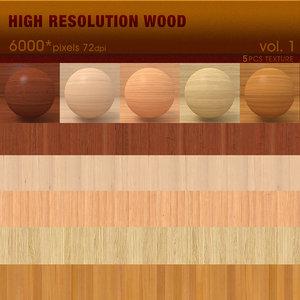 High Resolution Wood Textures vol.1 ( 5 PCS )