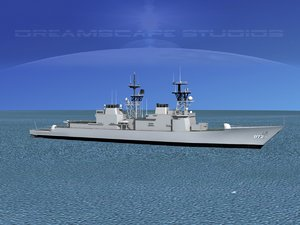 3d model of destroyers class spruance