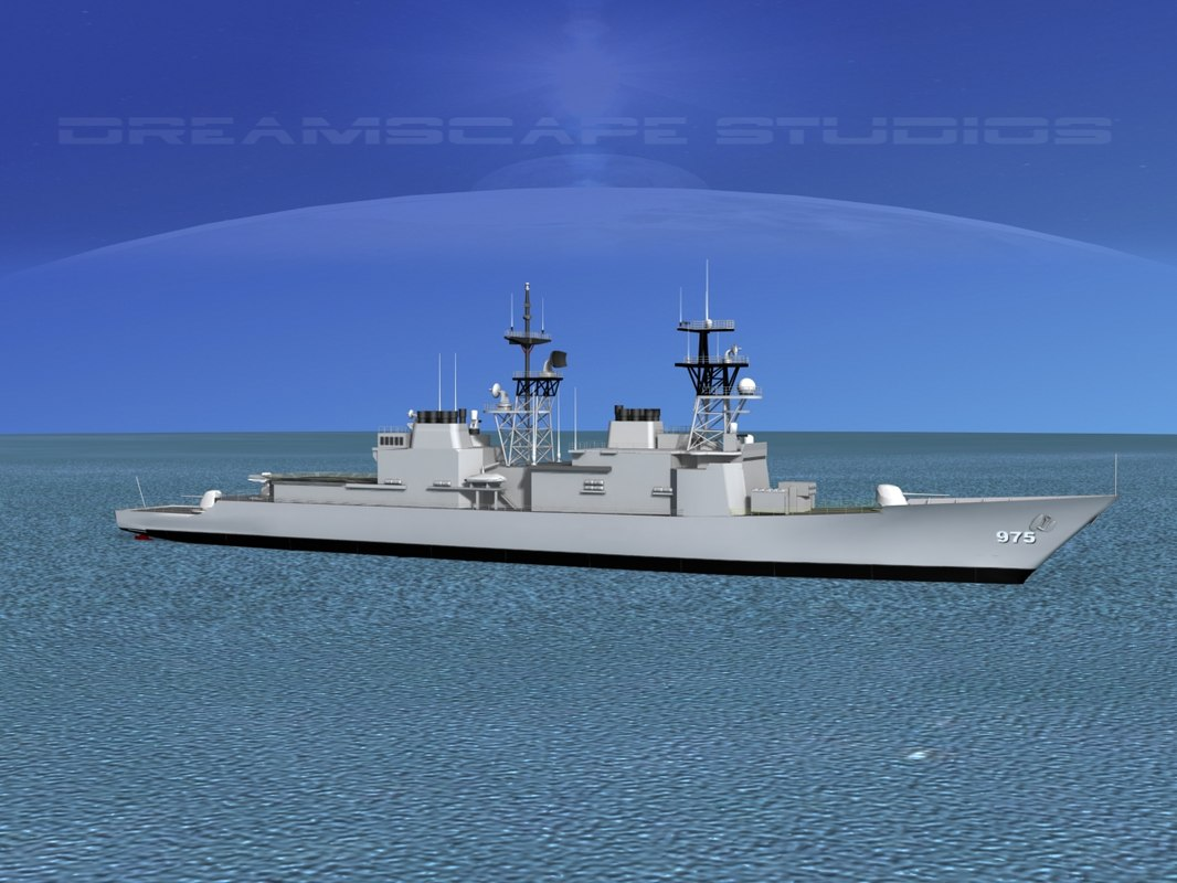destroyers class spruance 3d lwo