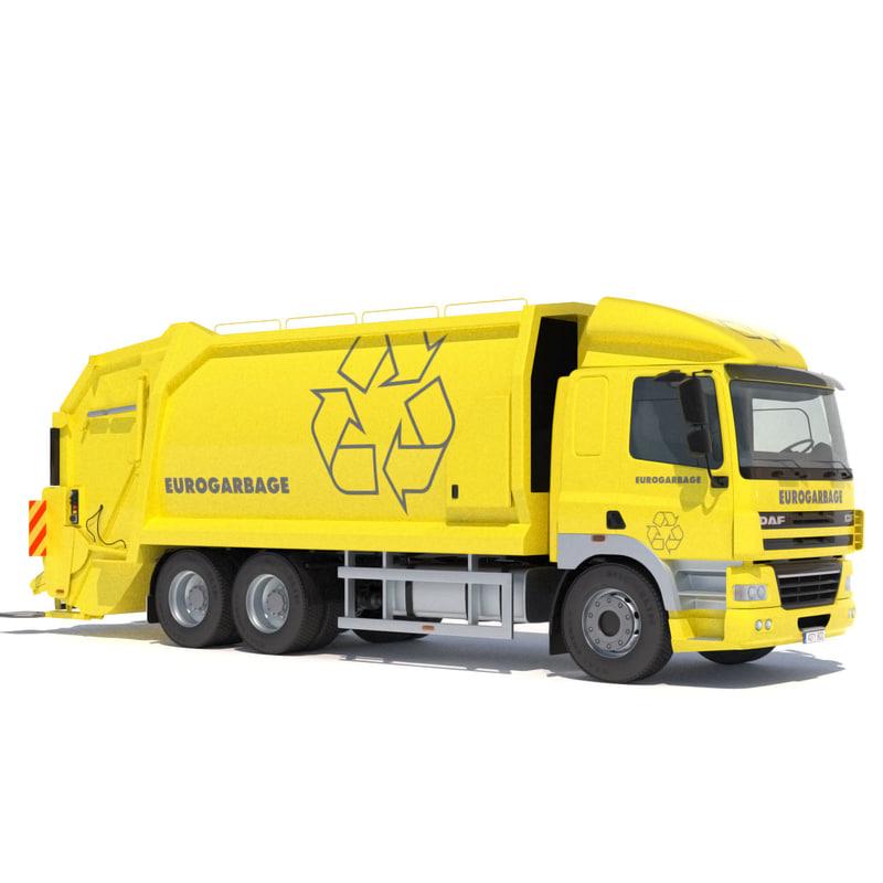 lwo daf cf 85 garbage truck