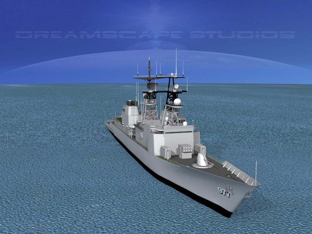 3d destroyers class spruance