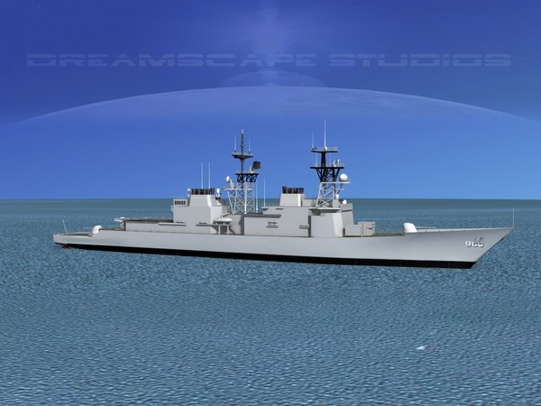 destroyers class spruance 3d max