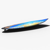 surfboard surf board 3d model