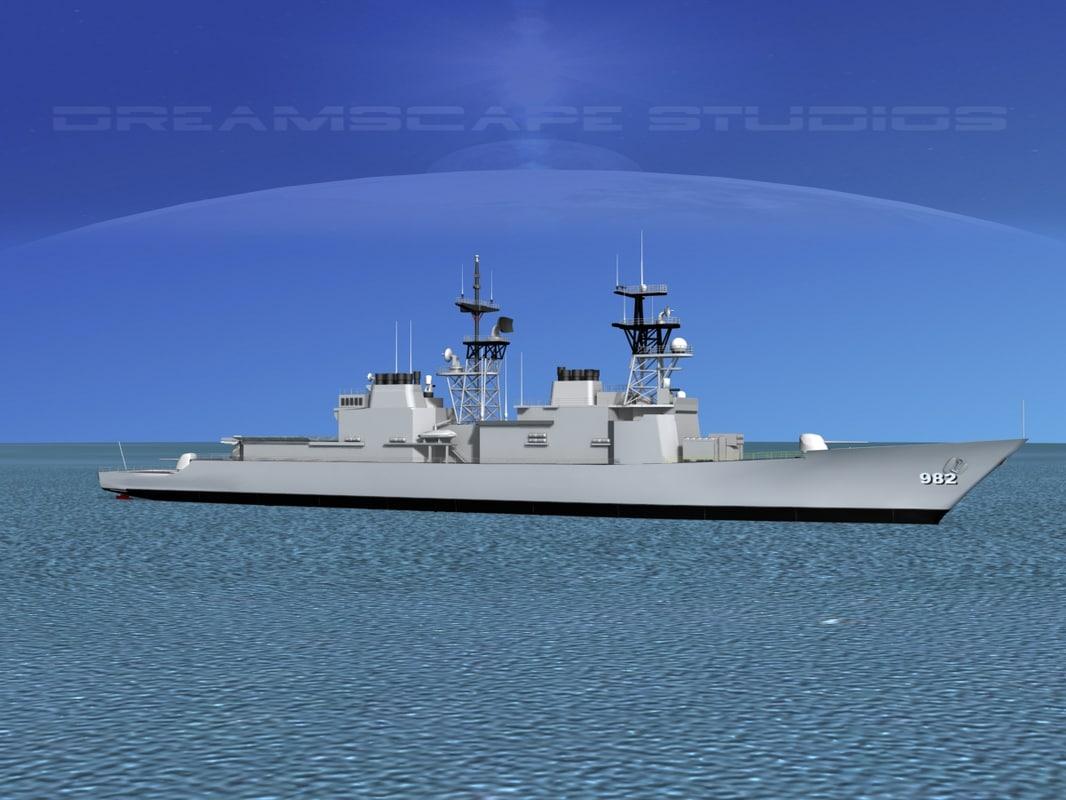 3d destroyers class spruance model