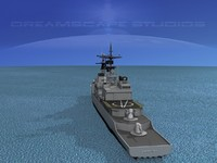 destroyers class spruance 3d model
