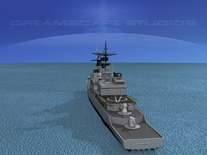 destroyers class spruance 3d model
