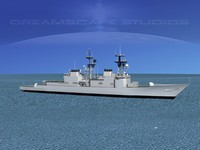 3d model destroyers class spruance