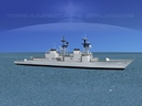 spruance class destroyer 3D models