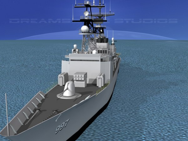 3d model of destroyers class spruance dd