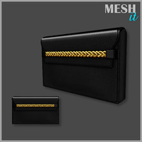 3d 3ds handbag clutch bag