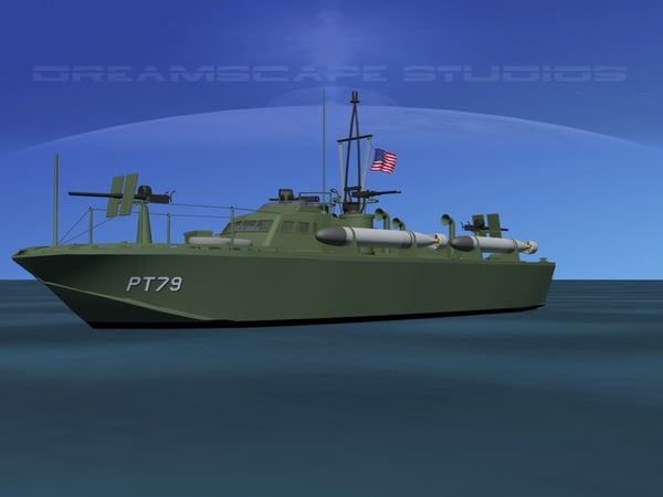 3d model of boat pt higgins classes