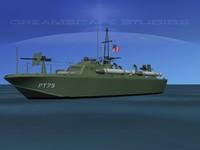 3d model of boat pt higgins classes