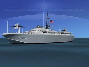 3d boat pt higgins classes model