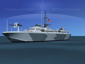 3d model boat pt higgins classes
