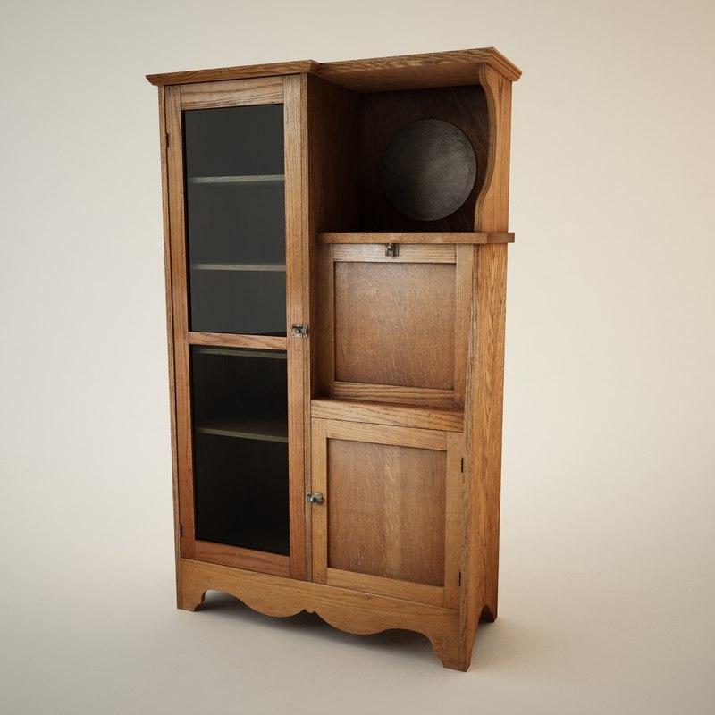 3d antique hutch model