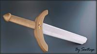3ds max sword wood