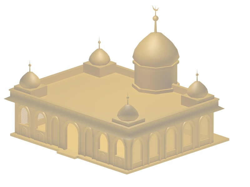 arabic building 3d model
