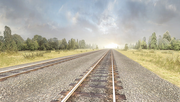 3d model of railway tracks pack