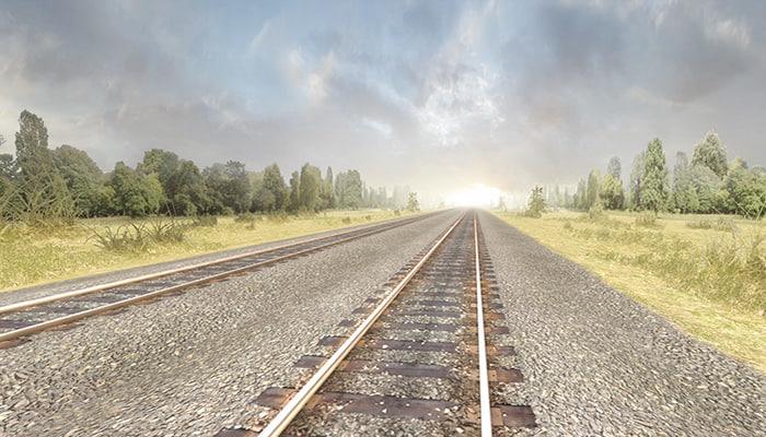 3d model of railway tracks pack