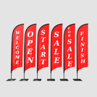 Advertising banner flag collection