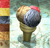 3d model icecream cone