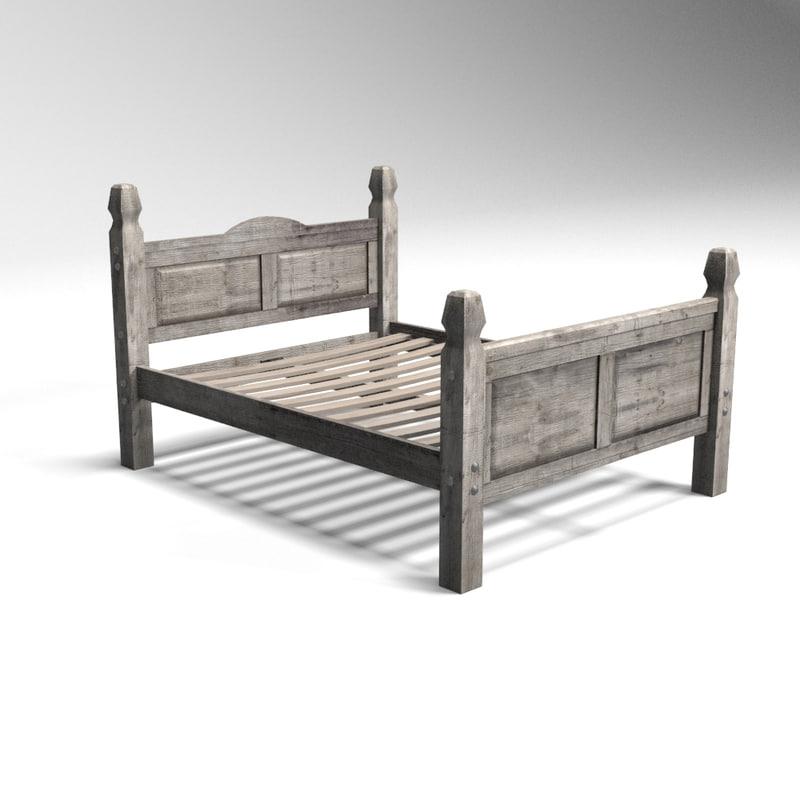 bed frame 3d max