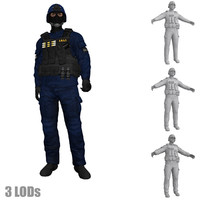 rigged swat soldier 3 max