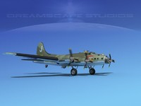 3d model b-17 hp boeing flying fortress