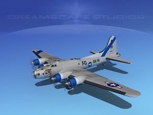 b-17 hp boeing flying fortress 3d obj