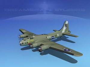 b-17 hp boeing flying fortress 3d model