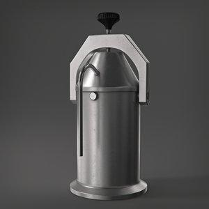 free old soviet coffeepot 3d model