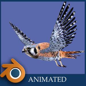 kestrel falcon 3d blend