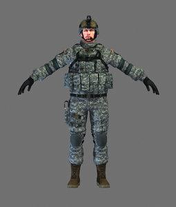 3d marine soldier