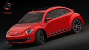 3d volkswagen newbeetle 2014 model