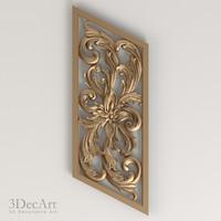 3d model carved panel