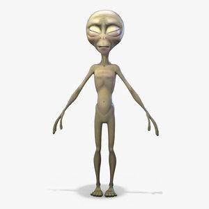 3d model rigged alien
