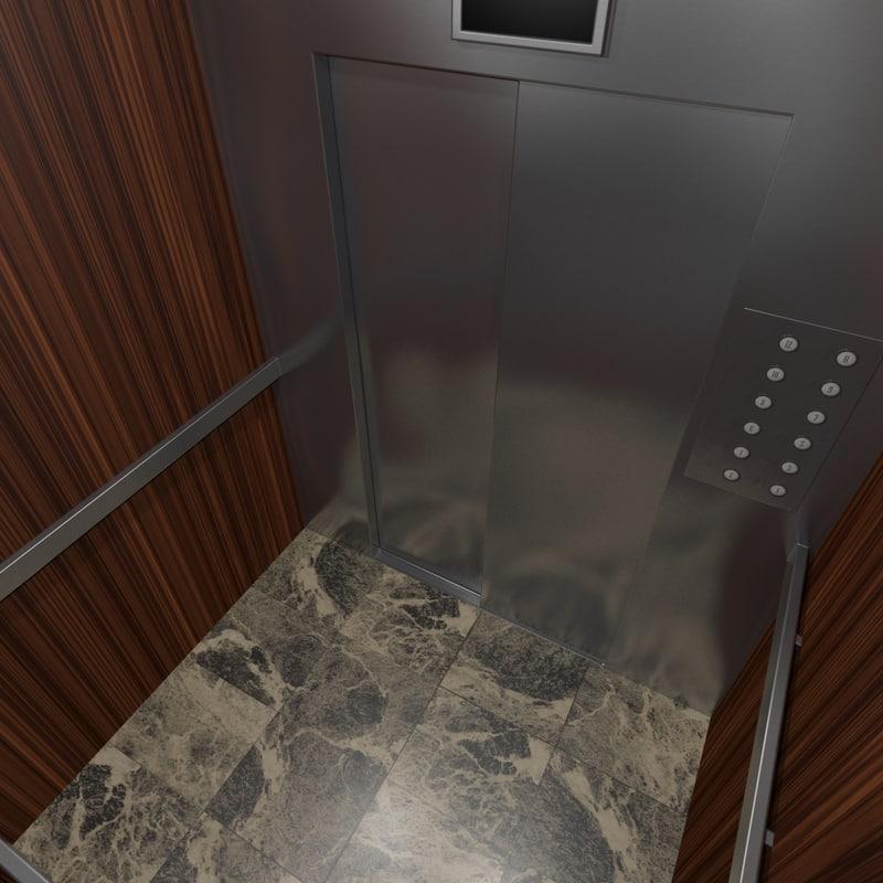 3d model elevator interior
