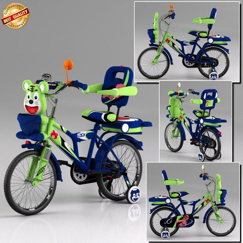 3d model cycle kids