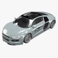 3d audi r8 custom car