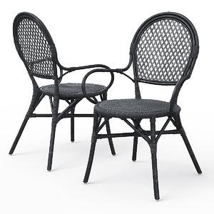 almsta wicker dining chair 3d max