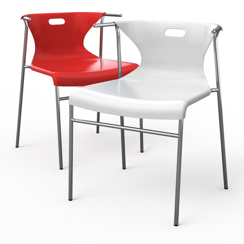 3d elmer dining chair model