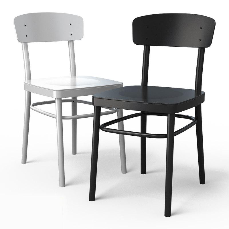 3d model idolf dining chair