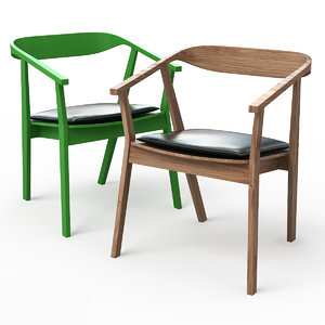 stockholm dining chair pad 3d model