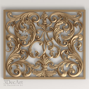3ds max carved decoration 020