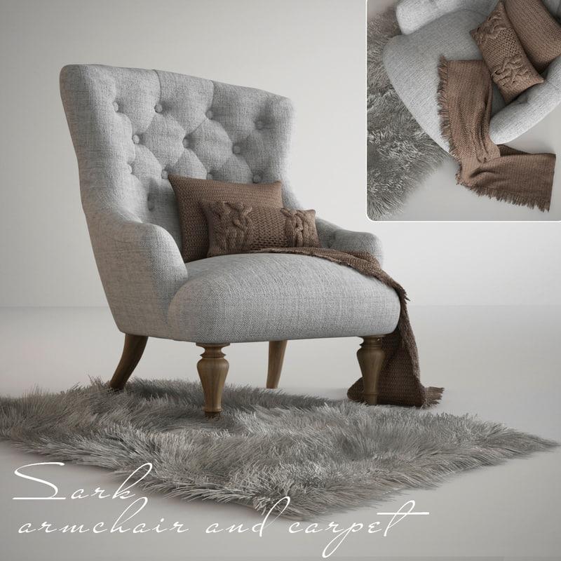 armchair sark carpet 3d model